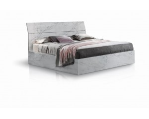 Bedkader Mary 160x200cm in hoogglans marmo bianco