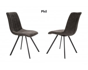 Chaise phil gris